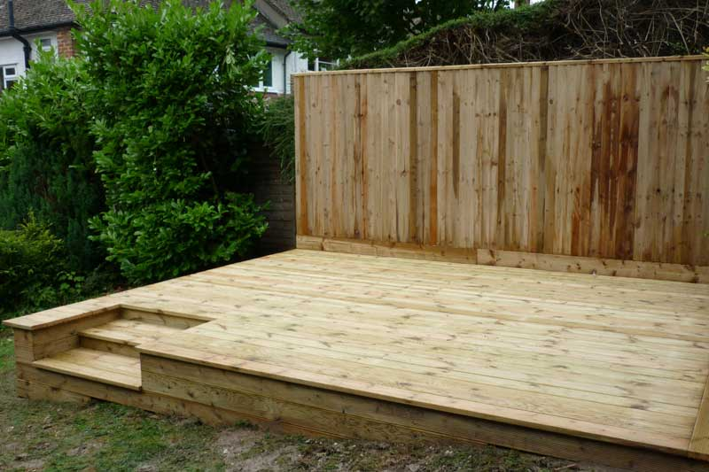 Allscapes decking carpentry for Garden decking images uk