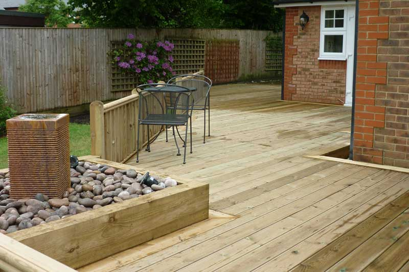 Allscapes decking carpentry for Decking framework timber