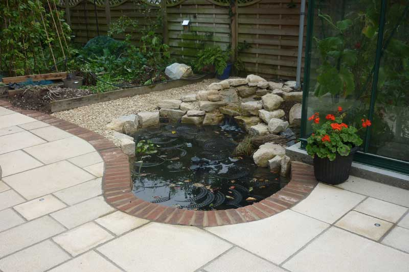 Edging pond again garden pond forums for Garden pond edging
