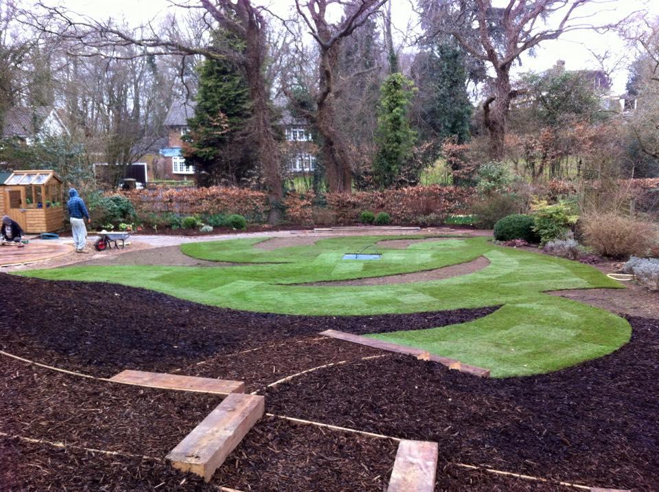 Landscape Gardening High Wycombe : Allscapes landscaped garden in seer green