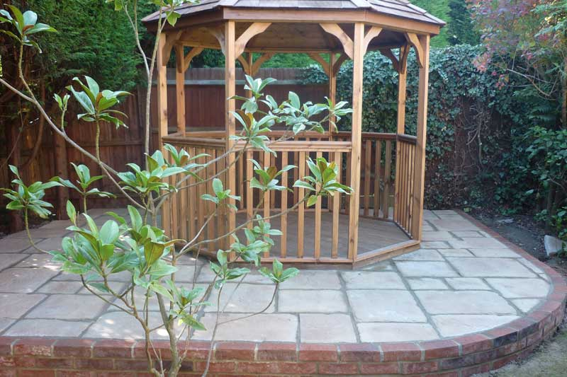 Garden Pagodas And Wooden Decking In High Wycombe, Bucks