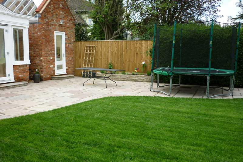 ... Patio and newly laid lawn turf ... - Allscapes :: Patios And Pathways